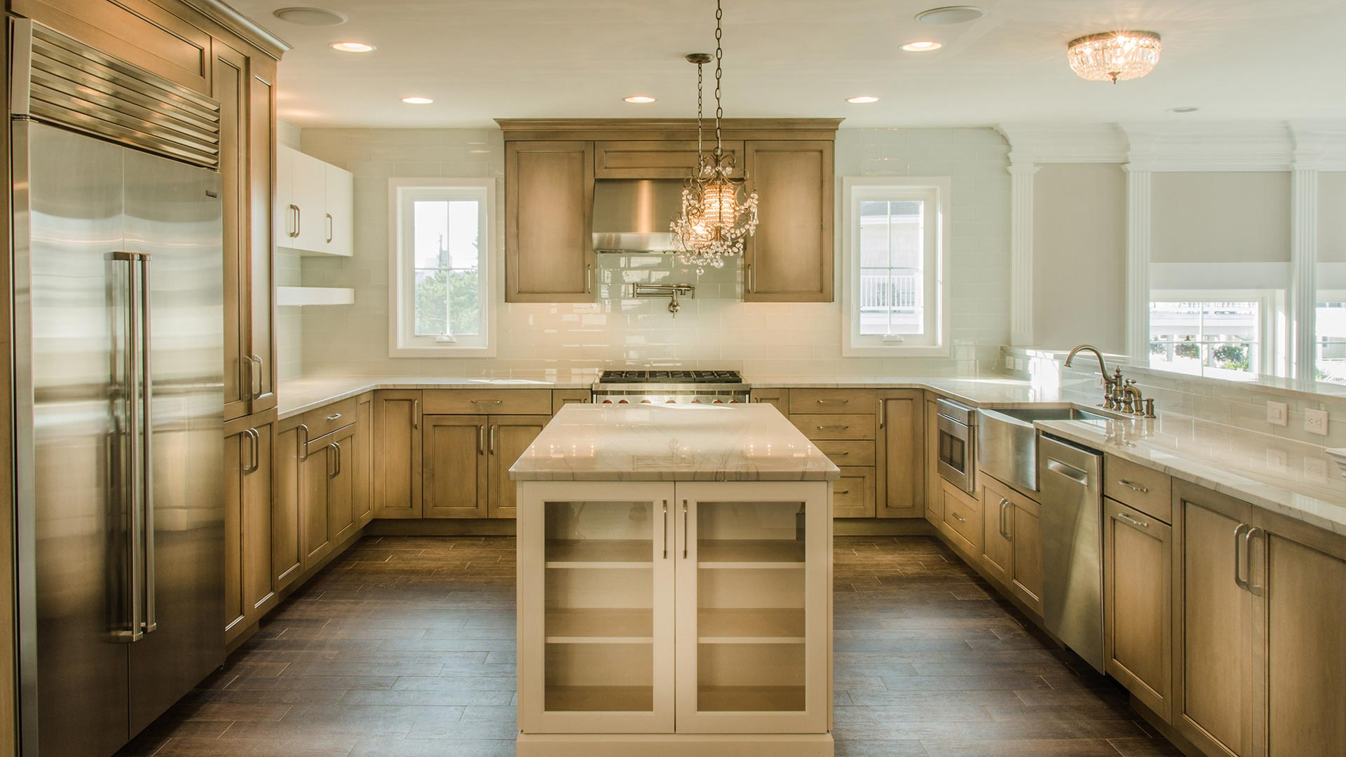 Transitional Kitchen - 12th Avenue Longport NJ