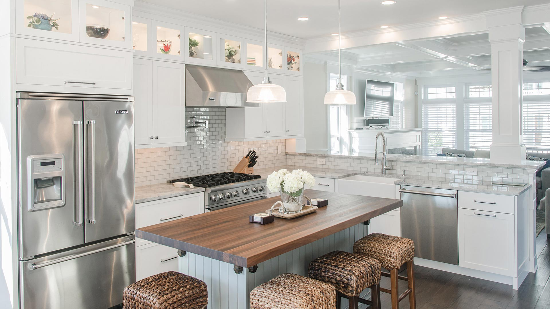 Transitional Kitchen - 34th Street, Longport NJ